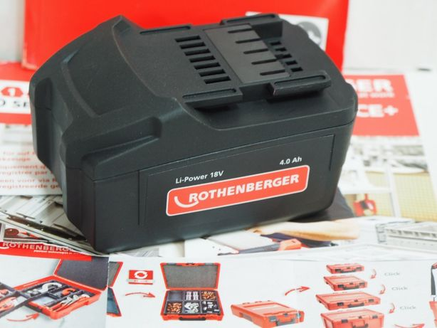 ROTHENBERGER bateria 18v 4ah akumulator Romax 4000 zaciskarka prasa