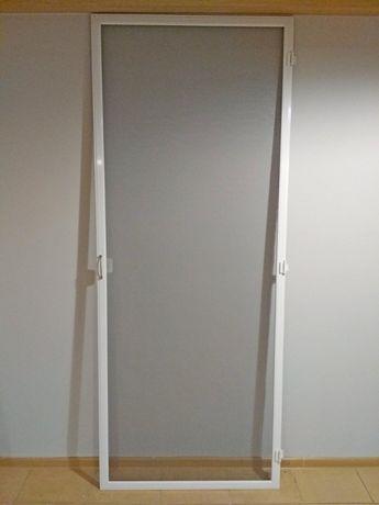Moskitiera drzwiowa na zawiasach, solidna, Puławy