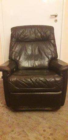 Fotel skórzany rozkładany