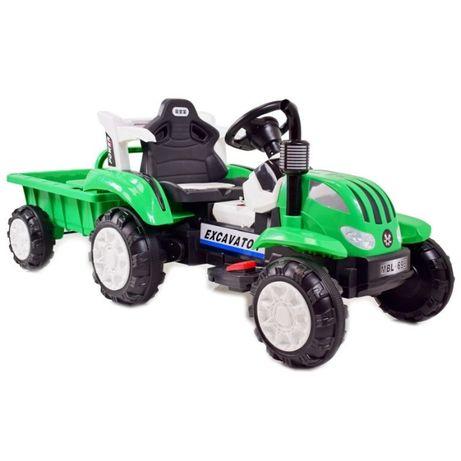 Traktor na akumulator z przyczepką! Miekkie siedzenie, światła, dżwięk