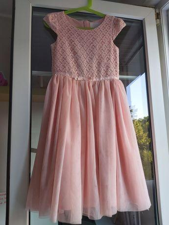Sukienka różowa koronkowa tuliu
