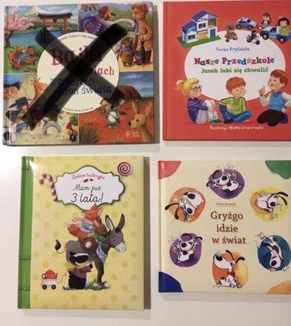 4 książeczki - Mam już trzy lata, Gryźgo idzie w świat, Nasze przedszk