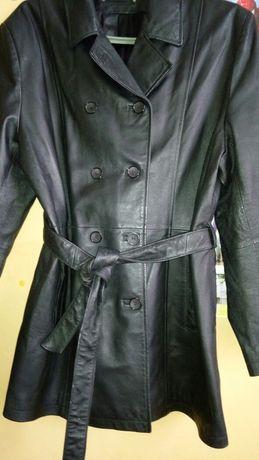 Куртка-пиджак женский кожа.