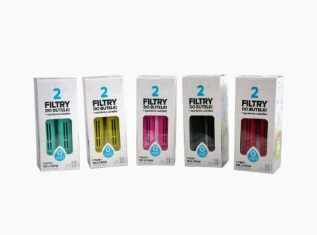 Filtry do butelki Dafi różne kolory  2 szt. W opakowaniu + zakrętka