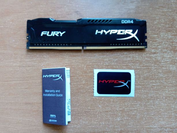 Kingston HyperX 8 GB DDR4 3200 MHz Fury Black (HX432C18FB2/8)