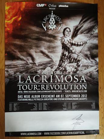 Lacrimosa - Tour: Revolution 2012 - Plakat, autograf Jan Peter Genkel