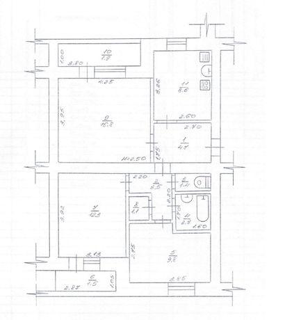 Продам квартиру (з індивідуальним опаленням)