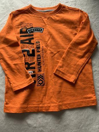 Nowy T-shirt na długi rękaw bluzka top bawełniany 92