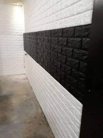 3д стикеры Пвх на стену под кирпич 97грн . Обои. Ремонт.