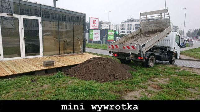 Usługi mini mała wywrotka piach piasek ziemia kruszywa Warszawa
