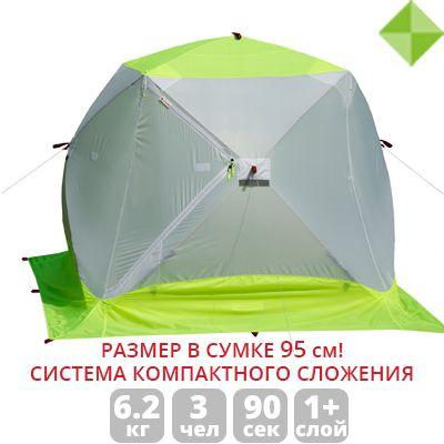 Зимняя палатка ЛОТОС Куб 3 Компакт ЭКО Палатка для рыбалки Оригинал