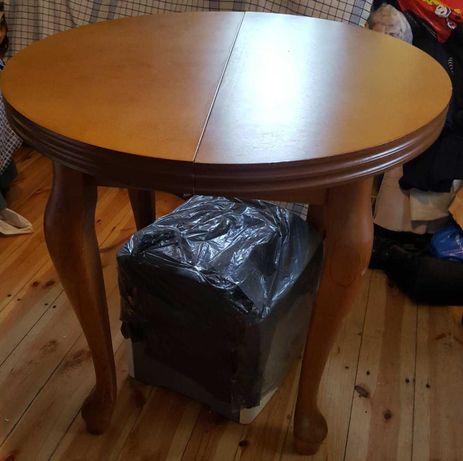 Piękny dębowy stół rozkładany nowy