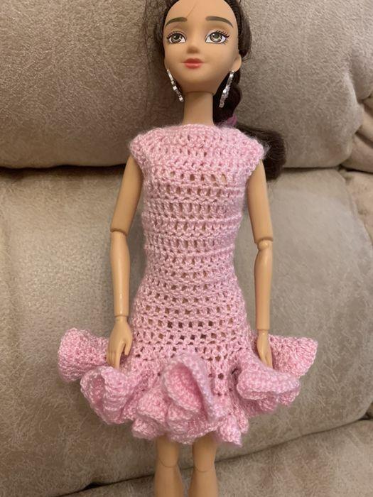 Вязаное платье для куклы Барби Киев - изображение 1