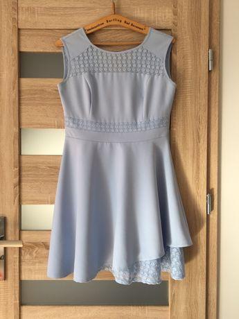 Rozkloszowana sukienka, rozmiar 42
