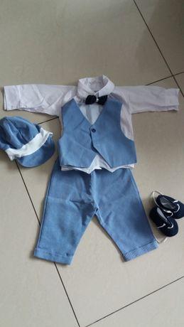 Ubranko do chrztu dla chłopca rozmiar 68