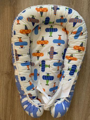 Кокон для новорождённых+пеленка на замочке с шапочкой в подарок