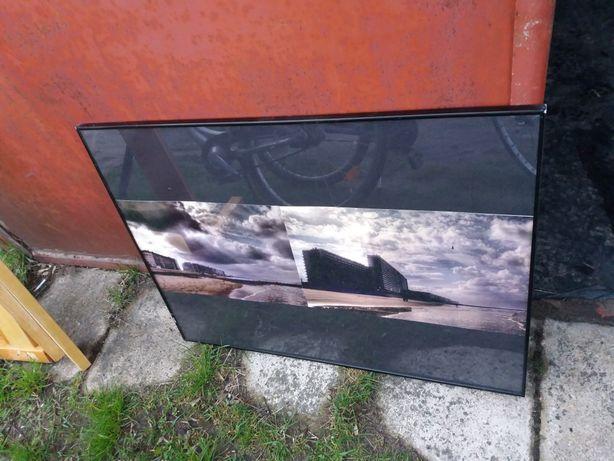 Duża Obudowa ramka metalowa, zaszklony obraz