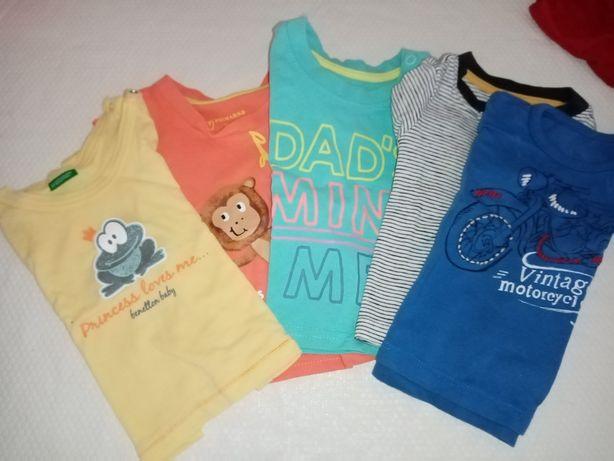 Conjunto de 5 T. Shirts, 1/3 meses