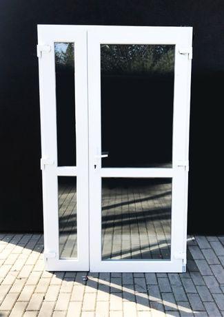 Drzwi PCV szyba 180x210 NOWE PVC biurowe białe