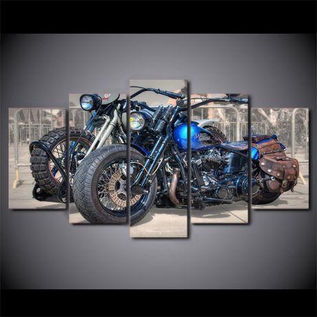 Obraz Harley-Davidson malowany na płótnie