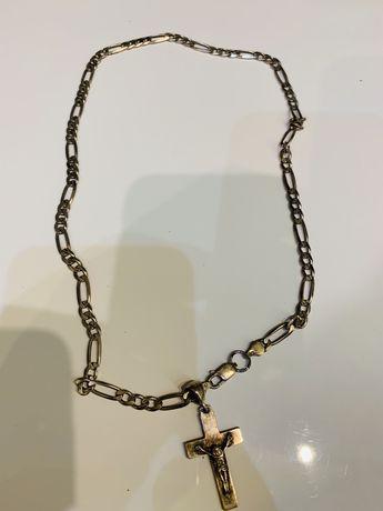Łańcuszek plus krzyżyk komplet srebrny 27 gram