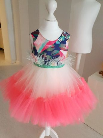 Нарядное пышное платье 2-4 года, для девочки, красивое НОВОЕ, р.98-104