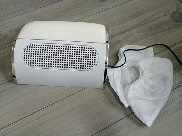 Pochłaniacz pyłu z podpórką pod ręke, wentylator manicure
