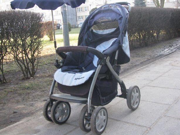 Wózek dziecięcy,ruchome kółka-spacerówka z parasolką