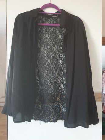 Koszula czarna z koronkowymi plecami