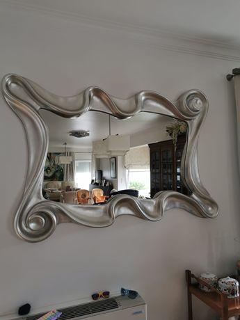 Espelho parede prateado