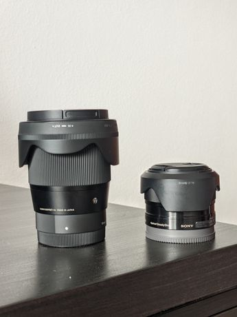 Pack Sigma 16mm F1.4 + Sony 35mm F1.8