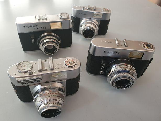 Máquina fotográfica x4 Lote máquinas antigas década 50/60