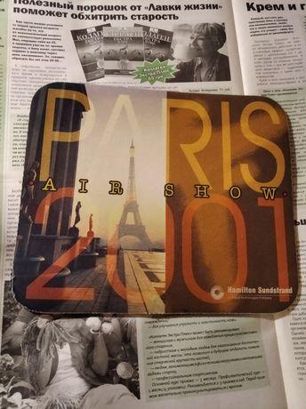 Коврик для компьютерной мыши прорезиненный ретро 2001 Париж Paris