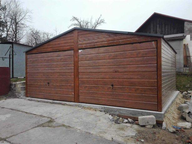 Garaże blaszane#garaż6x5#drewnopodobny#dwuspadowy#wzmocniony#producent