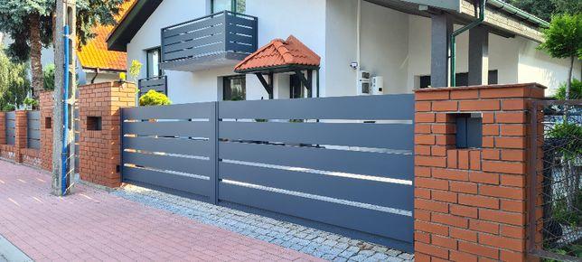 Brama skrzydłowa furtka ogrodzenie aluminiowe