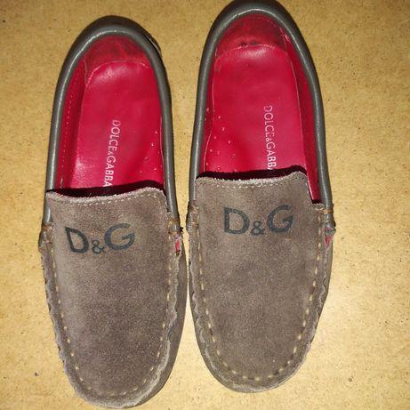 Туфли замшевые D&G