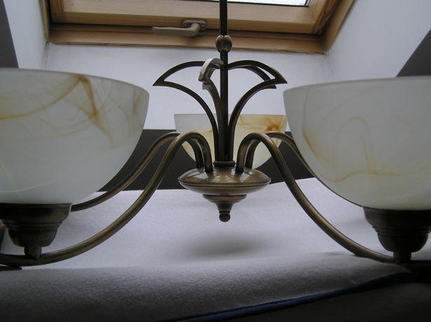 żyrandol klasyczny/lampa metal/szkło Aldex typ 396/F 5x60W E27