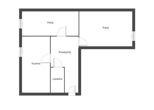 51,3m2 2 pokoje, piętro I przy 1-go Maja Nowa Dęba