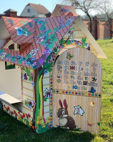 Будиночок-розмальовка з гофрокартону дитячий