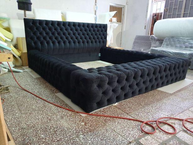 Łóżko Sypialnia Chesterfield Glamour