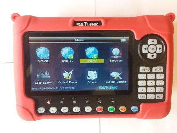 2019 Satfinder Satlink WS-6980 DVB-S/S2, TDT, Cabo, Fibra óptica Novo