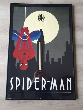 Plakat Spider Man Retro (ramka uszkodzona)