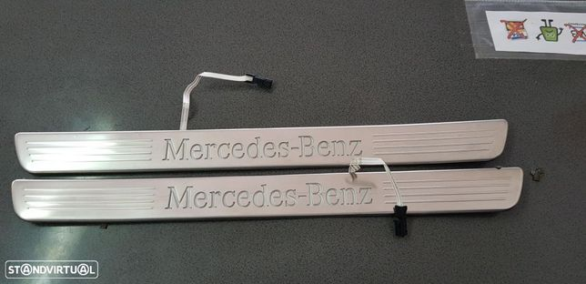 Soleiras AMG Mercedes CLASS A W176 CLA coupe iluminadas Original