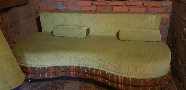 Kanapa rozkładana- wypoczynek + 2x fotele+2x pufa