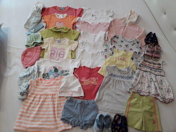 Zestaw ubranek dla dziewczynki 74-80