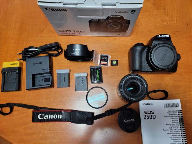 Oportunidade Canon EOS 250D + Objetiva 18-55mm + kit acessórios
