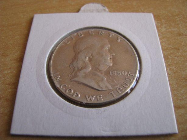 Srebro Ag. Half Dollar 1950- FRANKLIN - STAN (1-) USA