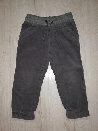 Spodnie ocieplane, sztruksy, 98
