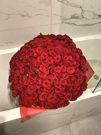 Акция! 101 роза 51 роза Цветы Букеты Доставка 24/7 Киев