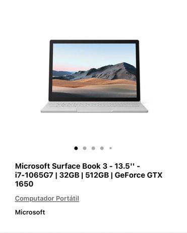 """Microsoft Surface Book 3 13,5"""" - i7-1065G7   32GB   512GB   GeForceGTX"""